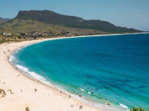 playa bolonia panoramica
