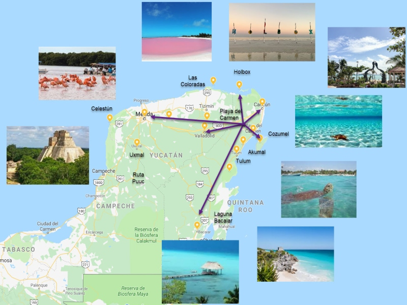 playa del carmen mapa