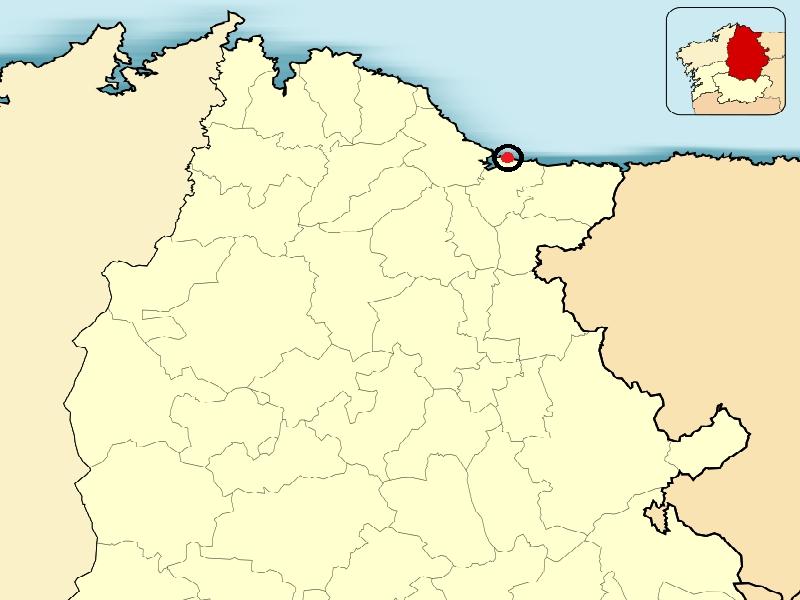 Mapa playa de las catedrales Lugo
