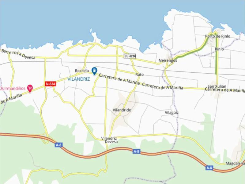 Mapa playa de las catedrales lugo rutas