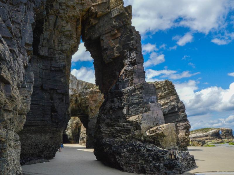 Playa de las Catedrales Cuevas rocas