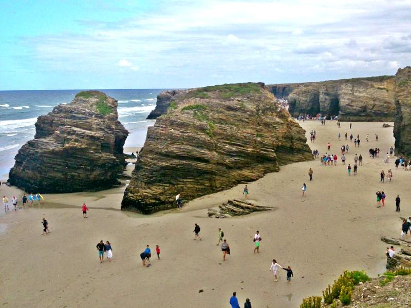 Playa de las Catedrales mareas marea baja