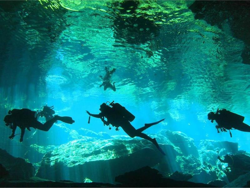 cenotes playa del carmen chac mool