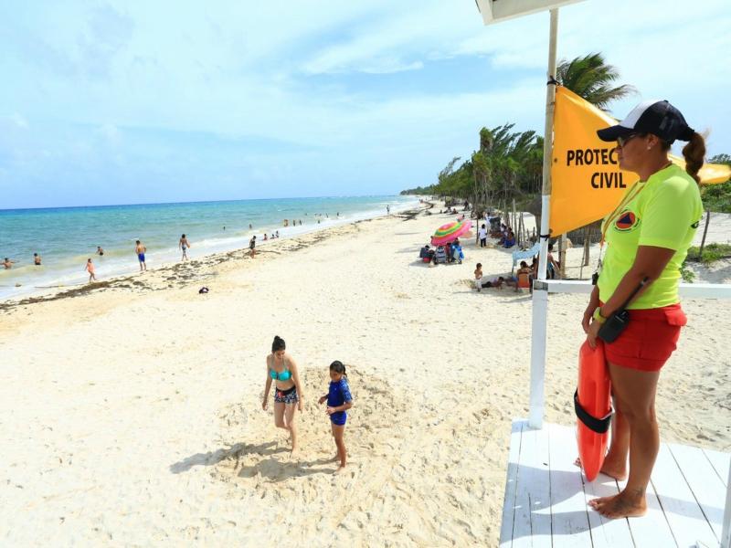seguridad en Playa del Carmen balnearios